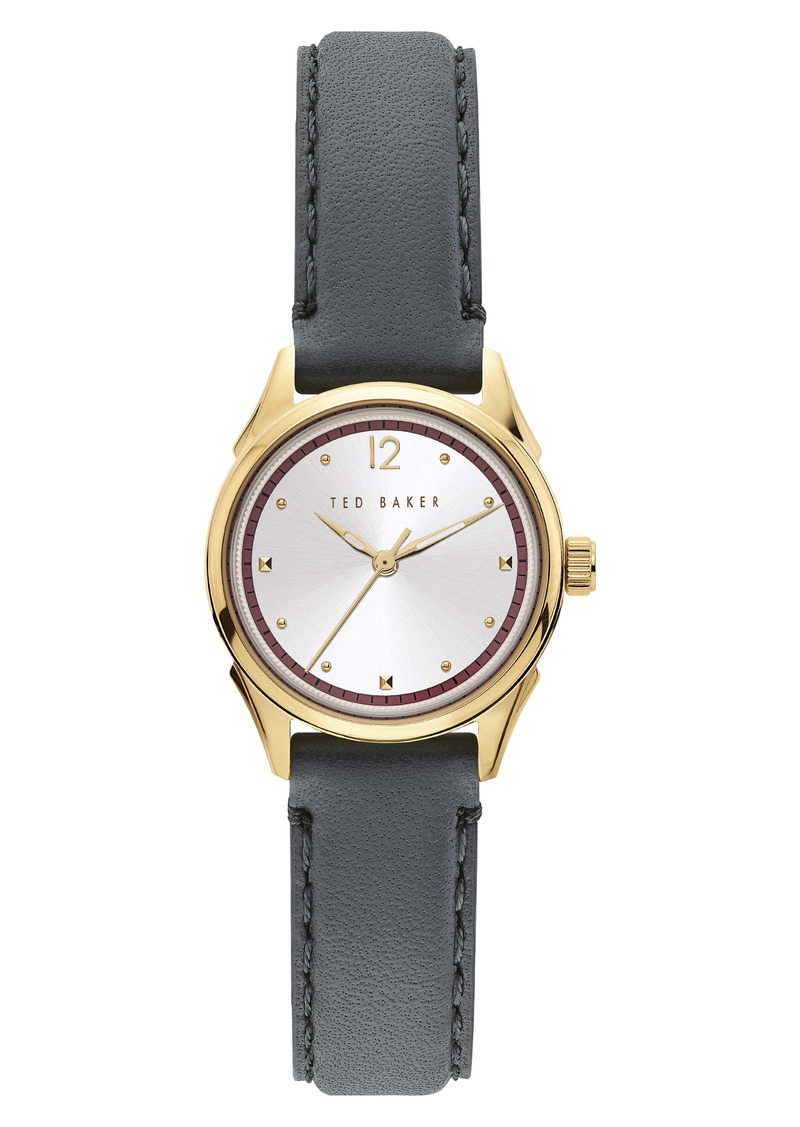 Ted Baker London Luchiaa Leather Strap Watch, 27mm