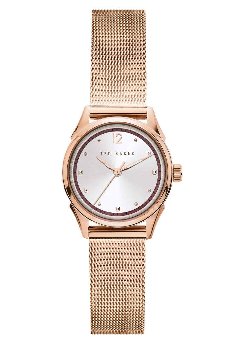 Ted Baker London Luchiaa Mesh Strap Watch, 27mm