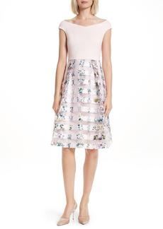 Ted Baker London Lulou Unity Floral Off the Shoulder Dress