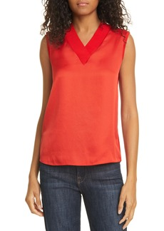Ted Baker London Lydiaay V-Neck Mixed Media Top