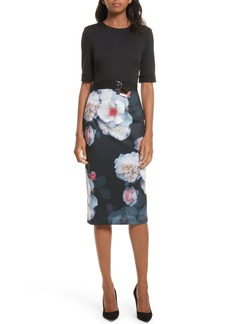 Ted Baker London Maason Chelseas Floral Body-Con Dress