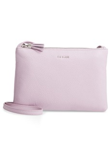 Ted Baker London Suzette Double Zip Leather Crossbody Bag