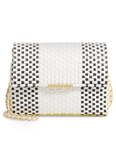 Ted Baker London Madiee Woven Stripe Clutch