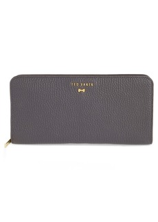 Ted Baker London Maely Faceted Bow Leather Zip Matinée Wallet