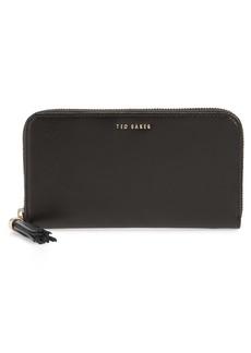 Ted Baker London Tassel Leather Zip Matinée Wallet