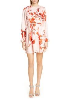 Ted Baker London Malaani Fantasia Long Sleeve Minidress