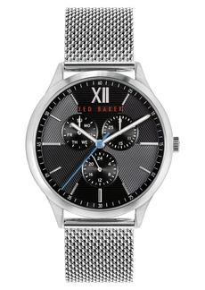 Ted Baker London Manhatt Multifunction Mesh Strap Watch, 42mm