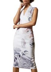 Ted Baker London Marah Bouquet Body-Con Dress
