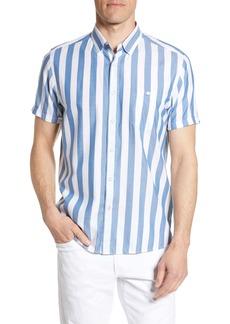 Ted Baker London Marki Slim Fit Stripe Short Sleeve Shirt