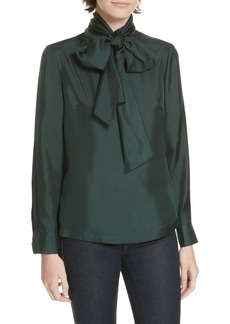 Ted Baker London Marther Tie Neck Silk Blouse