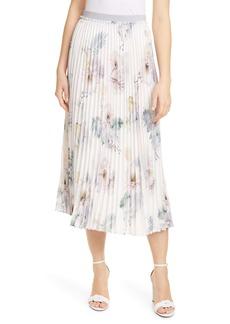 Ted Baker London Maxiiy Woodland Floral Pleated Skirt