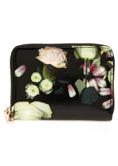 Ted Baker London Mayycie Kensington Floral Leather Mini Purse