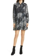 Ted Baker London Medinaa Print Long Sleeve Shirtdress