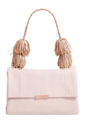 Ted Baker London Melody Pom Leather Shoulder Bag
