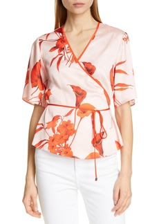 Ted Baker London Melonyy Fantasia Wrap Top