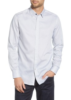 Ted Baker London Merci Slim Fit Geo Print Button-Up Shirt
