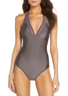 Ted Baker London Mesh Panel One-Piece Swimsuit