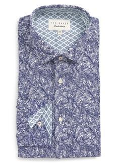 Ted Baker London Messera Trim Fit Print Dress Shirt