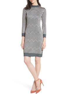 Ted Baker London Metallic Knit Dress