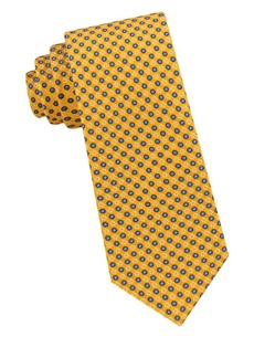 Ted Baker London Micro Frame Circle Silk Tie