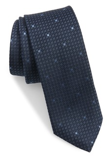 Ted Baker London Micro Grid Skinny Silk Tie