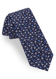 Ted Baker London Microflower Cotton Tie