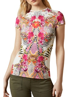 Ted Baker London Mileey Samba Fitted Graphic Tee