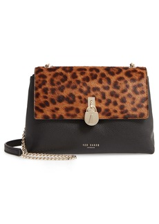 Ted Baker London Mini Canann Leopard Padlock Crossbody Bag