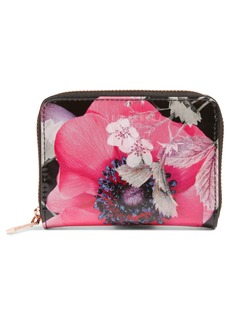 Ted Baker London Mini Lilibe Neon Poppy Zip Wallet (Nordstrom Exclusive)