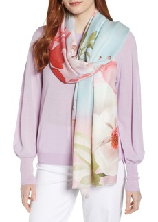 Ted Baker London Mint Chocolate Chip Floral Scarf