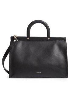 Ted Baker London Miriian Stab Stitch Large Leather Tote