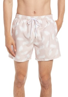 Ted Baker London Mitchll Smudge Print Swim Trunks