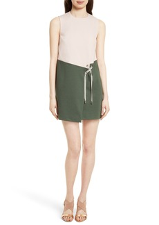 Ted Baker London Mivis Colorblock Crossover Front Tunic Dress