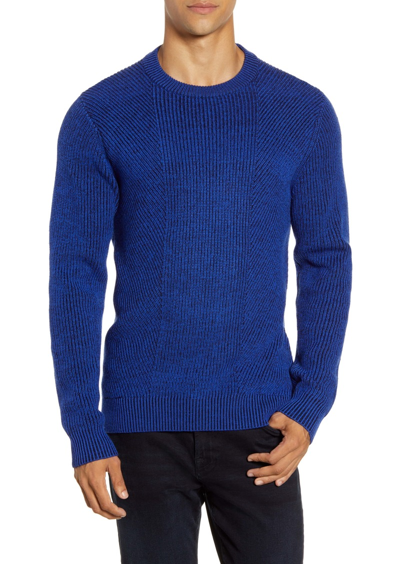 Ted Baker London Mixme Directional Ribbed Crewneck Sweater