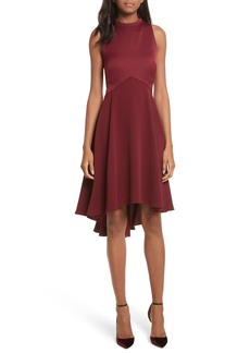 Ted Baker London Mock Neck Fit & Flare Dress