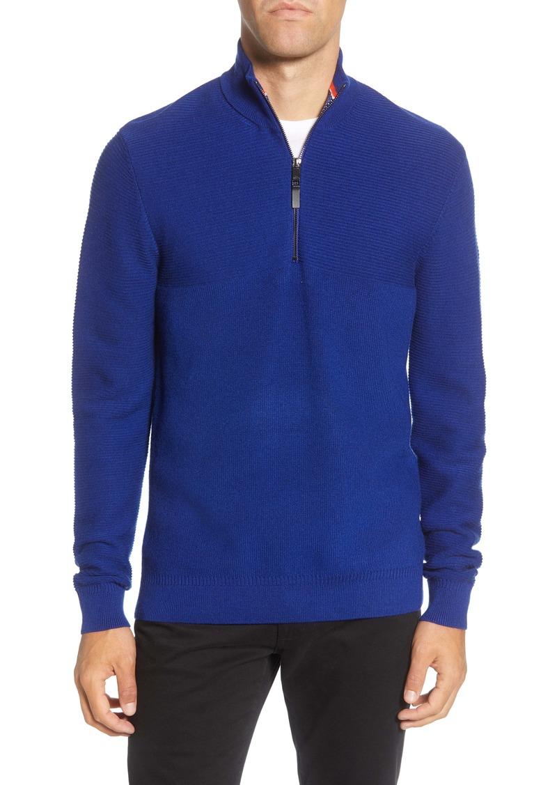 Ted Baker London Mock Neck Half Zip Sweater