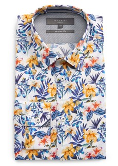 Ted Baker London Modern Fit Floral Dress Shirt