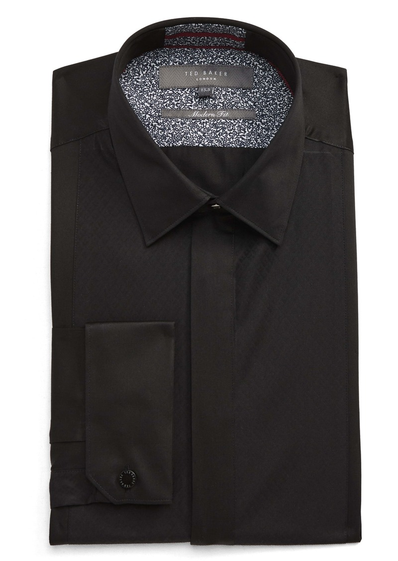 Ted Baker London Modern Fit Solid Dress Shirt