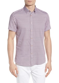 Ted Baker London Modmo Slim Fit Printed Cotton Shirt