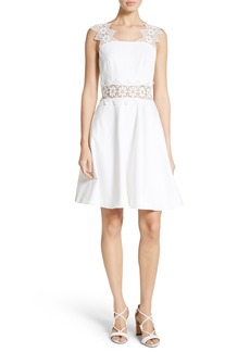 Ted Baker London Monaa Lace Trim A-Line Dress