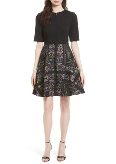 Ted Baker London Mooris Unity Floral Jacquard Dress