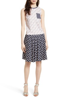 Ted Baker London Mural Bias Cut Drop Waist Dress