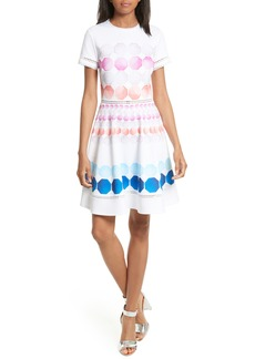 Ted Baker London Myley Marina Mosaic Skater Dress