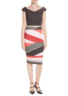 Ted Baker London Mytany Sahara Print Sheath Dress