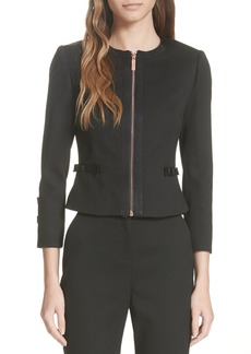 Ted Baker London Ted Working Title Nadae Cropped Textured Jacket