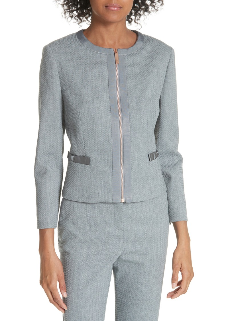 1fe1e396ecd125 Ted Baker Ted Baker London Ted Working Title Nadae Cropped Textured ...