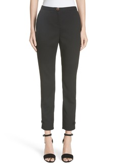 Ted Baker London Ted Working Title Nadaet Bow Detail Textured Trousers