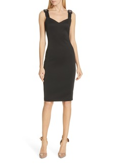 Ted Baker London Nancila Jewel Shoulder Sheath Dress