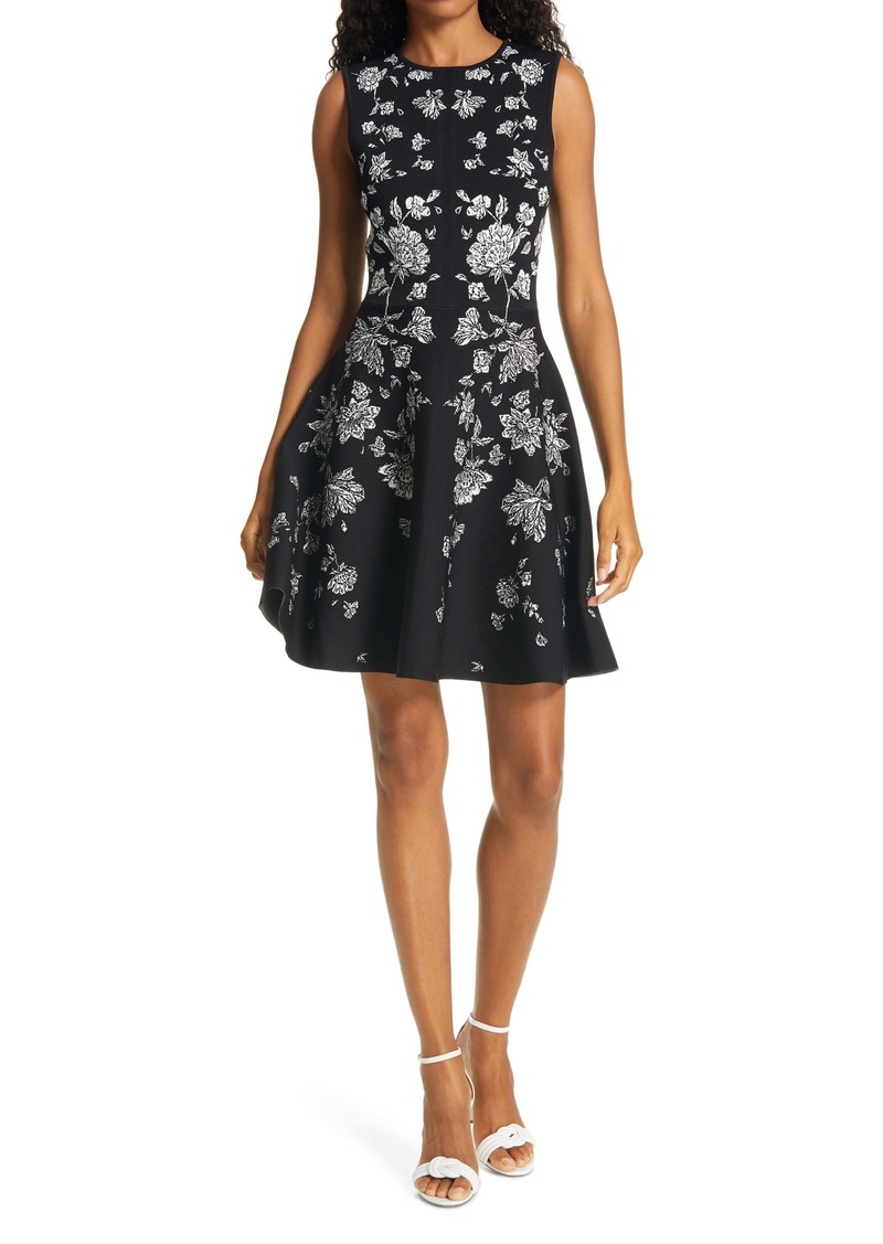 Ted Baker London Naomyy Floral Jacquard Fit & Flare Dress