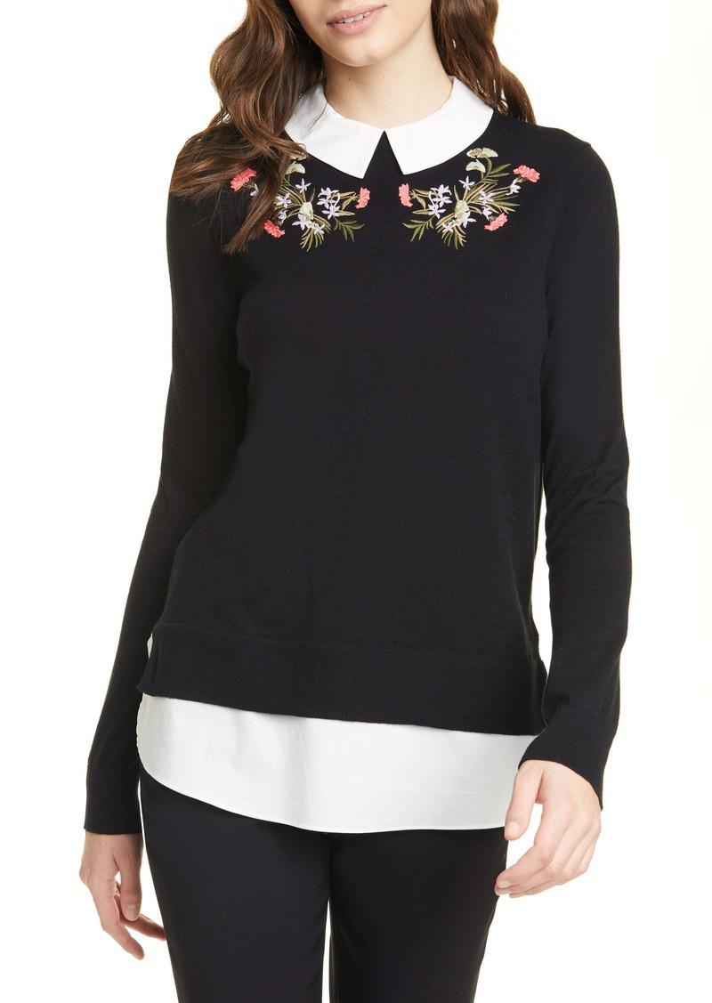 Ted Baker London Natiley Highland Mock 2-Piece Sweater